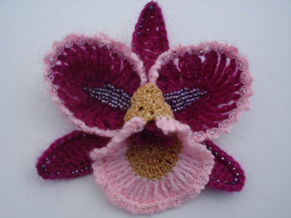 crochet orchid pattern - Google Search