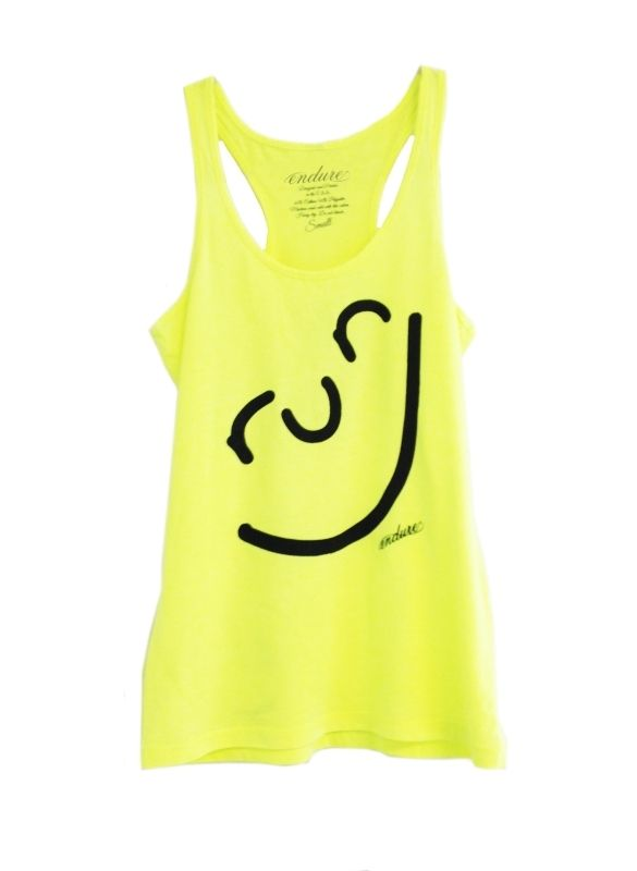 Endure Tanks: Run Happy Face Tank: Running Apparel #runner #running #gifts