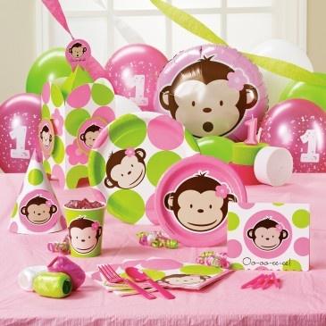 Mod Monkey Girl Birthday Monkey Baby Shower Decorations Baby