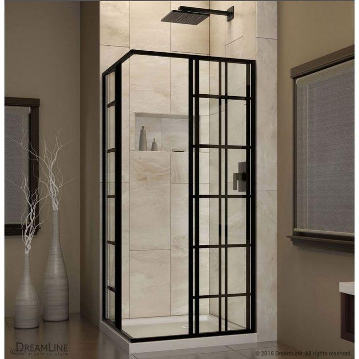 French Corner 34 1 2 X 34 1 2 X 72 Shower Enclosures 5 32 Tempered Safety Glass Door Walk In 20 3 4 In Two 16 3 Shower Doors Shower Enclosure Dreamline