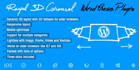 Royal 3D Carousel Wordpress Plugin