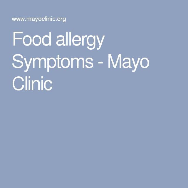 Food allergy Symptoms - Mayo Clinic