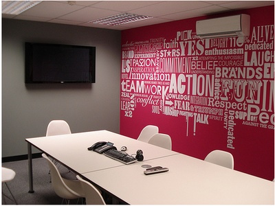 super-cool typography wall