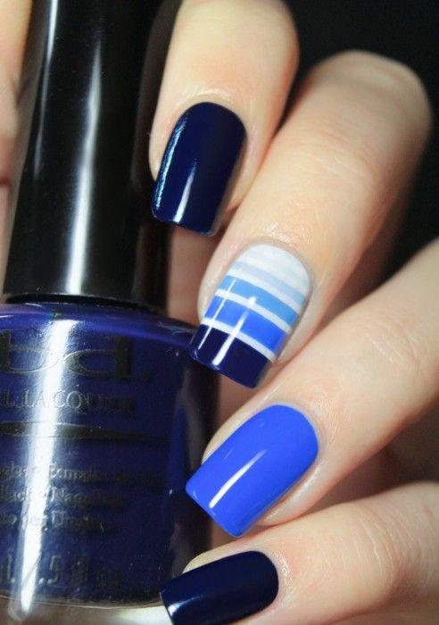 25 Increíbles diseños para decorar tus uñas con diferentes tonalidades de color…