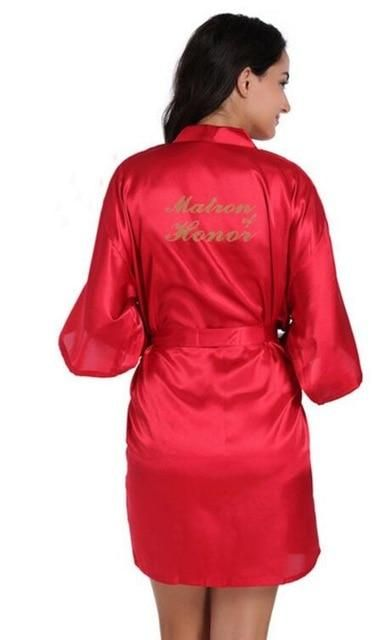 3f3779e9f9 Matron of Honor bridesmaid robes personalized matching robes mother of the  bride gift robe