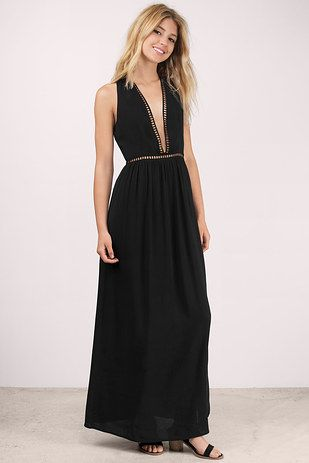 A ladder lace maxi that'll take you higher. | 23 Beautiful Dresses That Only Look Expensive