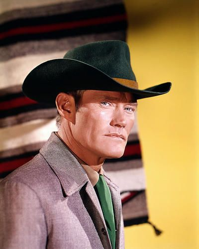 CHUCK CONNORS THE RIFLEMAN BLACK STETSON TV WESTERN PHOTO OR POSTER