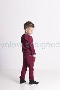 Spodnie dresowe eleganckie bordowe