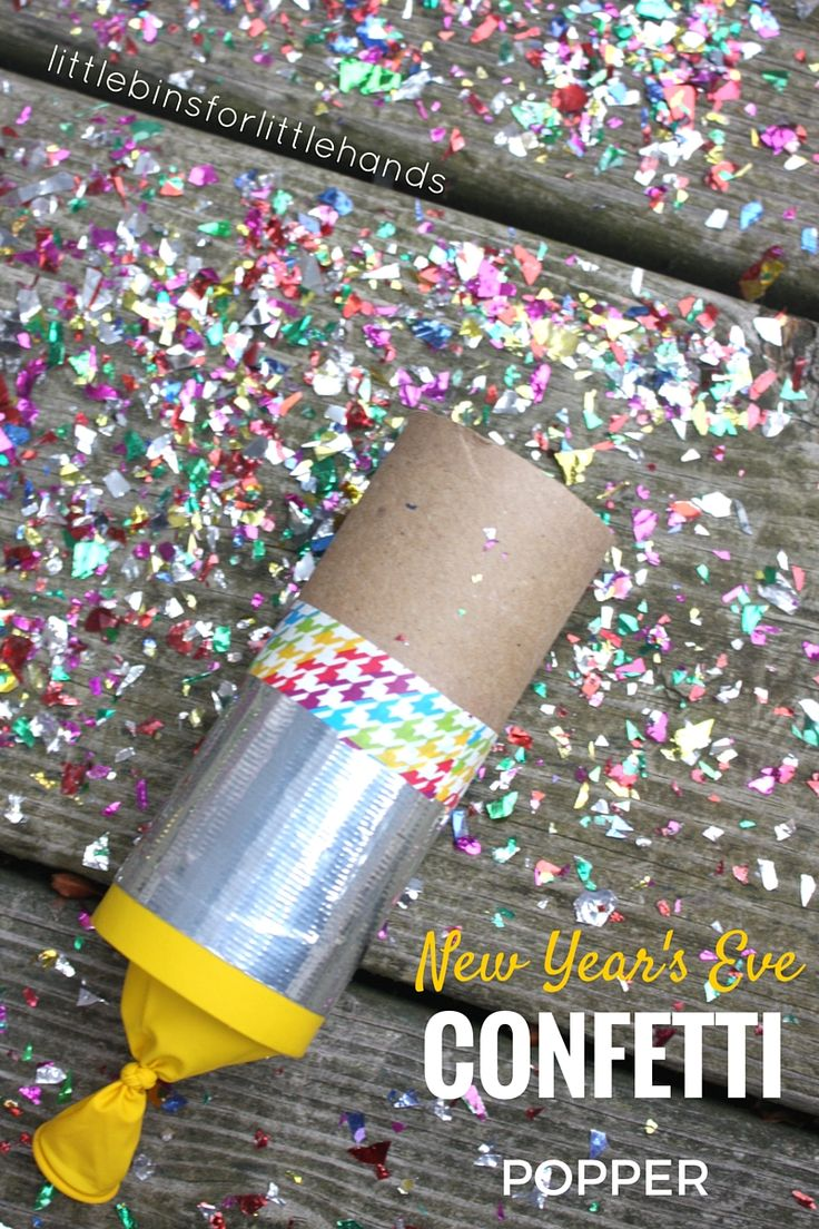Confetti poppers are easy to make. Kids love using confetti poppers to ring the New Year. Celebrate any party or occasion with DIY confetti poppers.