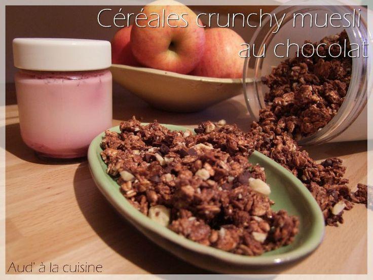 Céréales crunchy muesli au chocolat