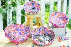 A colorful DIY bowl for coins and more! DIY Confetti Bowl by actress, Jill Wagner! Don't miss Home & Family weekdays at 10a/9c on Hallmark Channel!