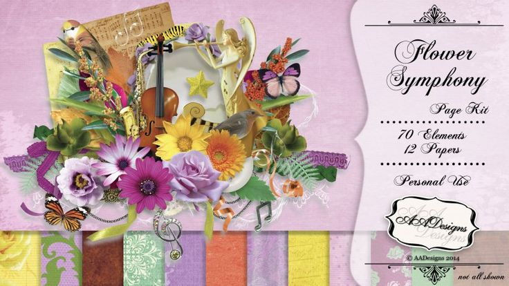 Flower Symphony {Kit} by AADesigns