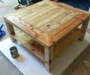 DON'T GORGET TO VOTE FOR ME IN THE WOOD SECTION!!collect a pallet with small pieces of wood and with straight legs for the tabel.Tools/Material i need...