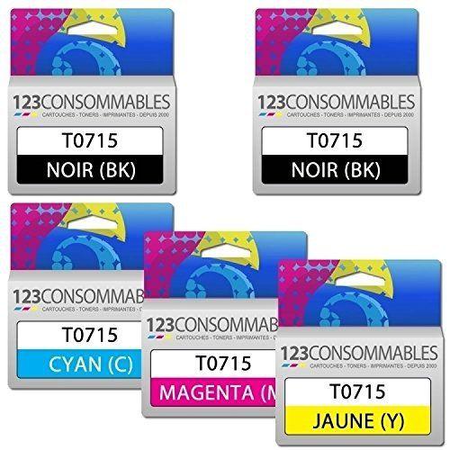 Pack générique T0715, 5 cartouches: Price:5.9Pack de 5 cartouches d' encre compatibles à petit prix idé ales pour vos impressions é…