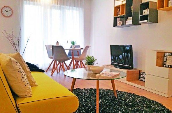 Un apartament de 55 mp din Complexul Cosmopolis, amenajat de specialiștii SDH în stil scandinav, cu pete de culoare vibrante și multă energie! Click pentru a descoperi proiectul complet!