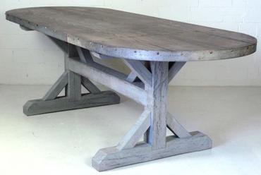 Oval Plank Dining Table