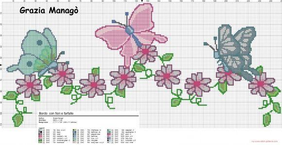 Bordo con fiori e farfalle (click to view)