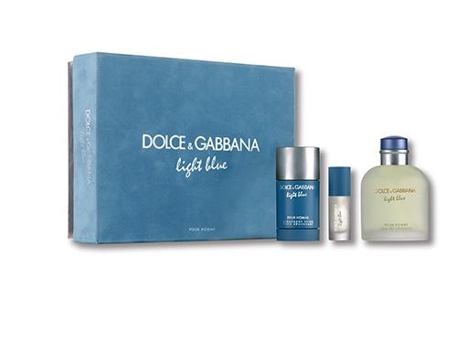 Dolce & Gabanna DG Light Blue 125ml eau de toilette gift set