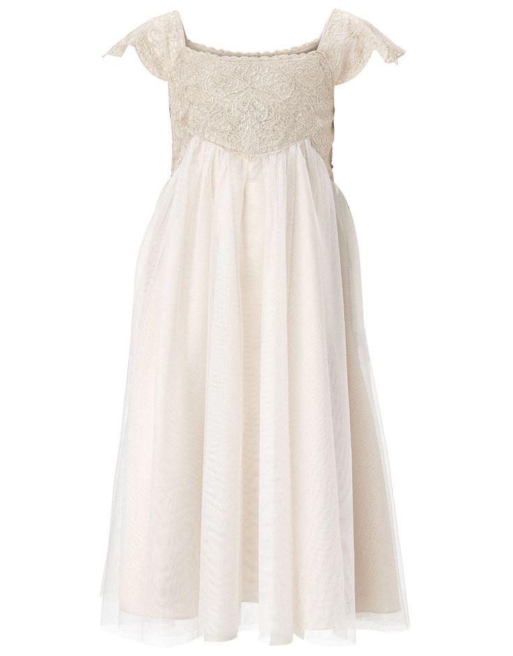 Estella Sparkle Dress   Gold   Monsoon...I LOVE this for Serena!