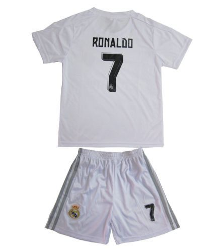 Real #madrid kids boys #football kit home cr7 #soccer jersey and shorts + sock, View more on the LINK: http://www.zeppy.io/product/gb/2/272294111905/