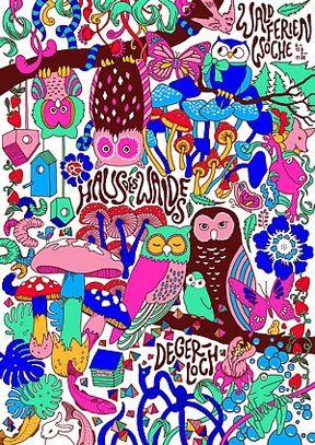 Барбара Штеле: плакат для «Лесного дома» в Штутгарте