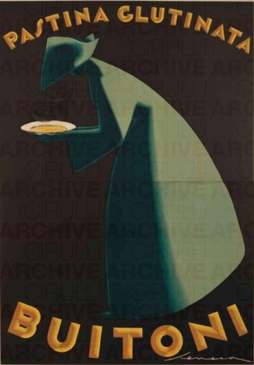 Poster by Federico Seneca (1891-1976), 1928, Pastina glutinata Buitoni . (I)