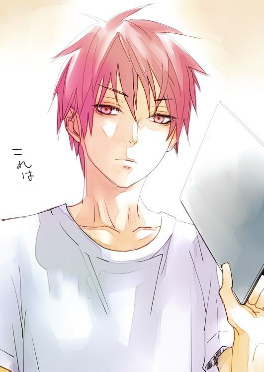 "Akashi being like ""Not sure if I should hit you with this board or not...""   Akashi Seijuro   Kuroko no Basket"
