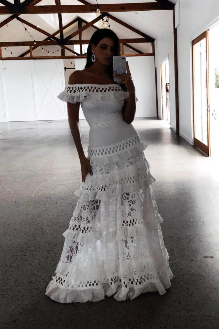 Simple mexican wedding dress