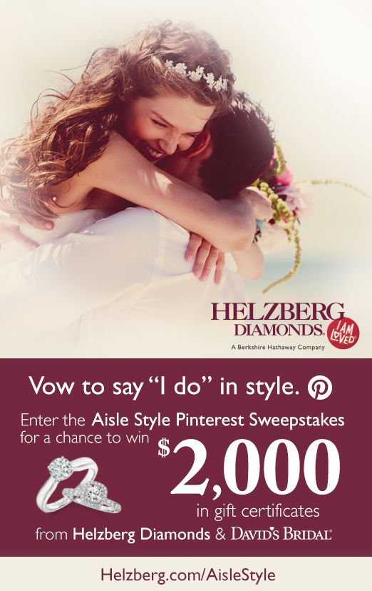 Enter to WIN $2000 towards diamonds and your dream dress! #HelzbergDiamonds #AisleStyle
