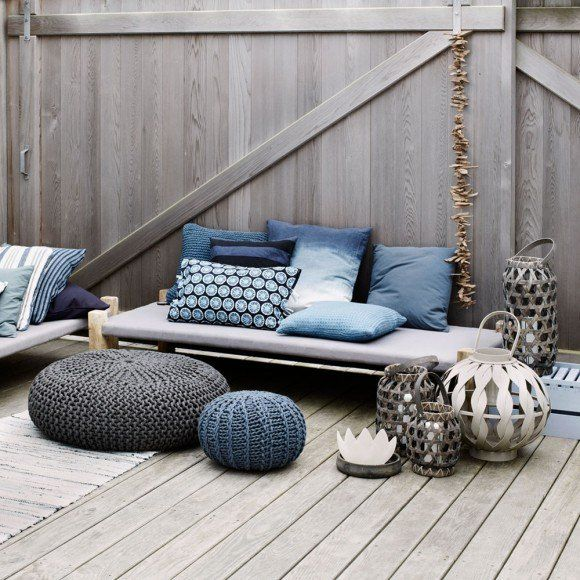 Fancy - Broste Copenhagen Outdoor Pouf Anthracite Grey | Occa-Home.co.uk