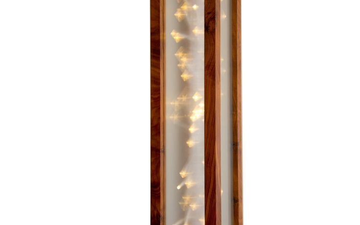 Up Close of the Galaxy Floor Light by Meagan Shafer.  Available at Kozai Modern  $890  #interiordesign #homedecor #lighting