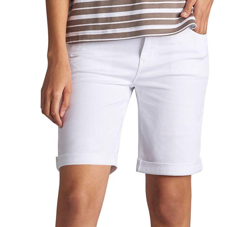 Women's Lee Gunnison Bermuda Jean Shorts, Size: 4 - regular, White