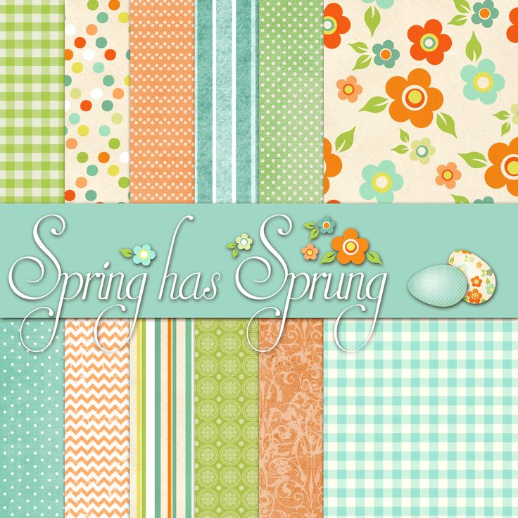 Printable Easter papers plus eggs, labels and more