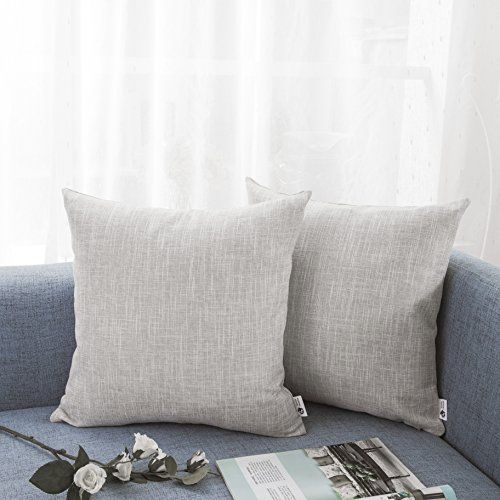 KEVIN TEXTILE Faux Linen Pillow Case  Material: High quality faux linen(100% Polyester)  Size: 18x18Inch /45x45cm  26x26Inch /66x66cm  Colour: Natural Linen Brown Light Grey Denim Blue  Closure: Hidden Zipper  Features:  Made from premium heavy duty high quality faux linen(100% Polyester) Kevin Textiles cushion cover brings softness and smooth to your home hard wearing properties to ensure long lasting everyday use.  2 size 4 colours can match Modern traditional or whatever style your home…