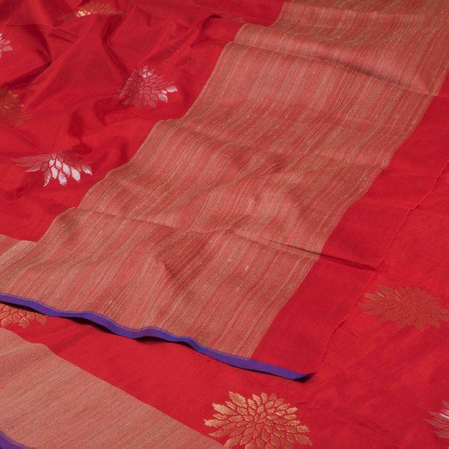 Shivangi Kasliwaal Banarasi Kora Silk Sari 10000486 - AVISHYA.COM