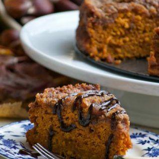 Pumpkin Crumb Cake a Type of Torta di Zucca
