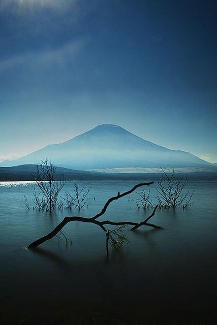 Not your usual Mt. Fuji shot; this is taken from Yamanaka Lake, Japan.