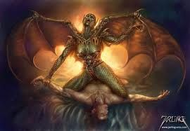 "incubus demon - An incubus (nominal form constructed from the Latin verb, incubo, incubare, or ""to lie upon"") is a demon in male form who, according to a number of mythological and legendary traditions, lies upon sleepers, especially women, in order to have sexual intercourse with them"