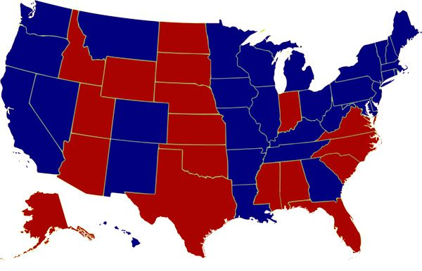 1992 Presidential Election Voter Map. Senator Bill Clinton defeated President George H.W. Bush and Ross Perot with a 43% popular vote and a 68.8% electoral vote