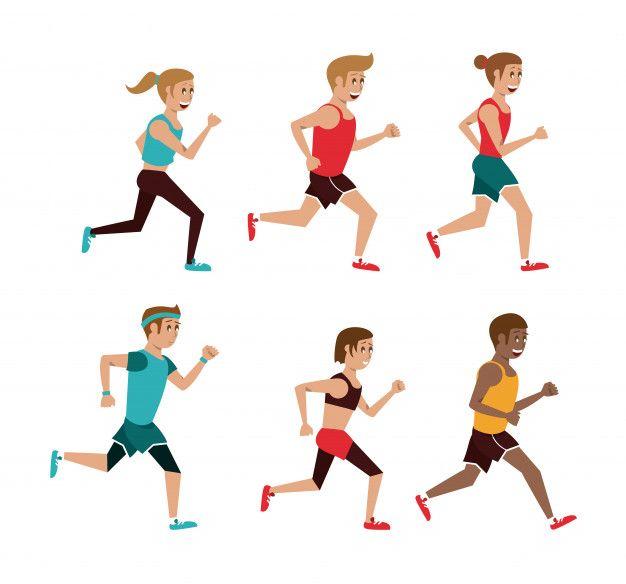 Conjunto De Personas Corriendo Dibujos Animados Vector Premium Free Vector Freepik Vector Freepe Correr Dibujo Persona Corriendo Dibujo Dibujo De Personas