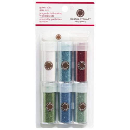 Martha-Stewart-Crafts-6-Glitter-Set-40-34022-New-Scandinavian-Christmas