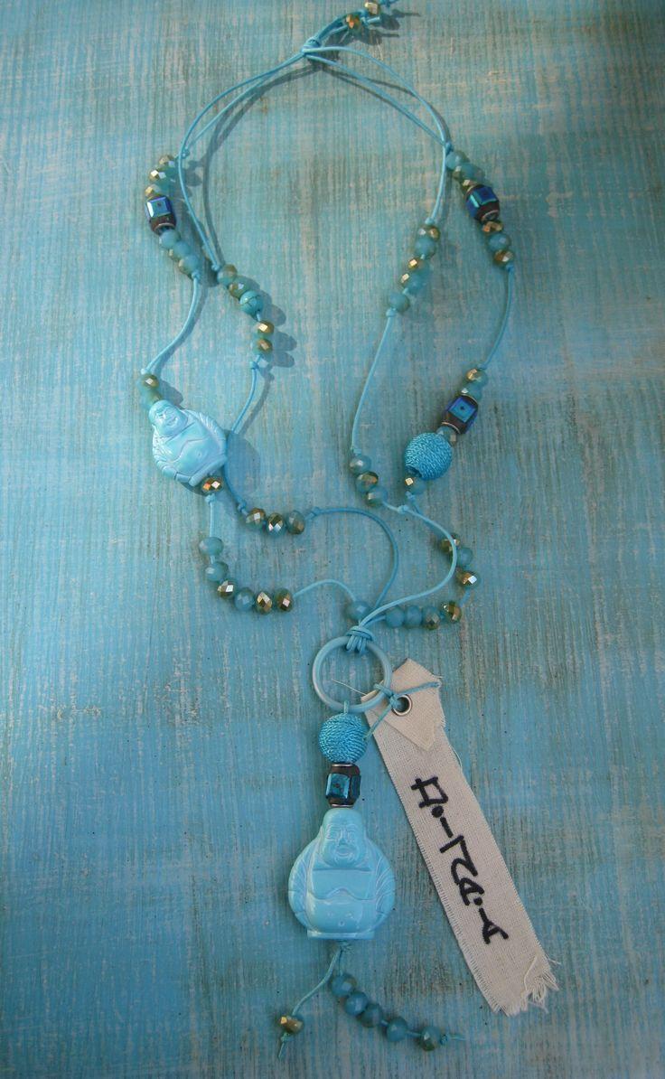DIJAIA ooak jewelry with glasbeads/ handmade beads and BUDDHA by RR 2013