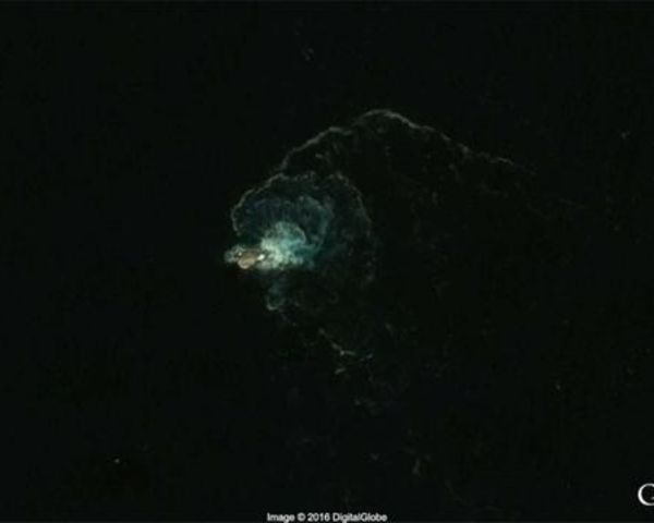 UFO Hunters Claim Kraken Can Be Seen On Google Earth - A Google Earth view of the area near Deception Island shows an usually large object disrupting the Antarctic waters. A leading UFO theorist has identified the mysterious figure as the Kraken.
