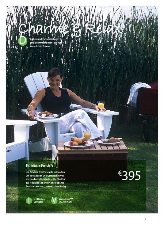 Ob im Hängezelt mit Kühltasche oder beim Picknick auf der Wiese - Viel Spaß beim feiern. https://www.yumpu.com/de/document/view/55473483/garten-und-style-2016