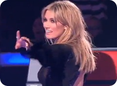 Where is Delta Goodrem with The Voice blind auditions air?