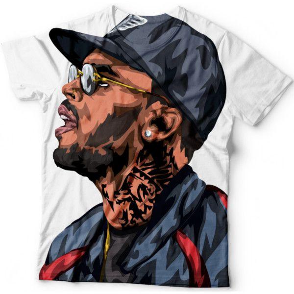 Chris Brown T Shirt ($45) ❤ liked on Polyvore featuring tops, t-shirts, checkered shirt, brown tops, t shirts, brown tee and checked shirt