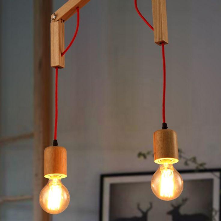 Стиле лофт Американский Кантри Творческой Личности Столовой Деревянный Люстра Гостиная Лампа Спальня Лампа Бесплатная Доставка