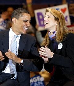 President Obama   and   Caroline Kennedy
