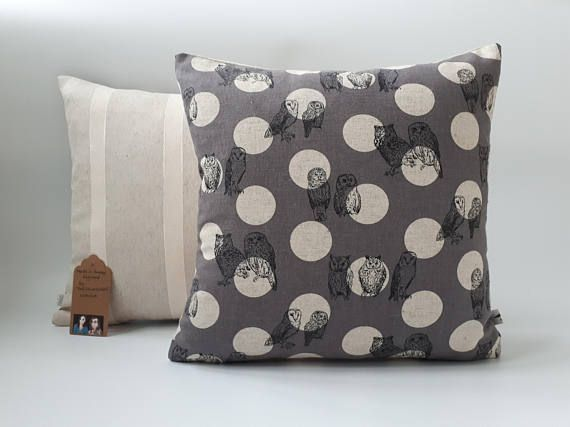 Two Ugly Sisters  Owl Cushions Owl Covers Owl Pillow