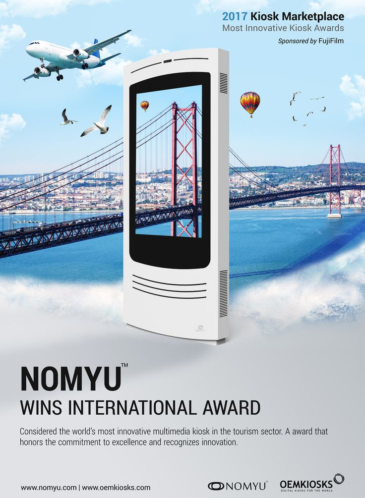 """PARTTEAM and its NOMYU product, win again an important international award. This digital kiosk is now considered the MOST INNOVATIVE MULTIMEDIA KIOSK OF 2017 in the tourism sector. """" We are all very proud, and simultaneously satisfied by realize that work developed had earned recognition. """" - said Miguel Soares, CEO and Founder of PARTTEAM GROUP #partteam #oemkiosks #nomyu #portugal #awards #tourism #smartcities #technology #news #international #business #kioskmarketplace #innovation #tech"""
